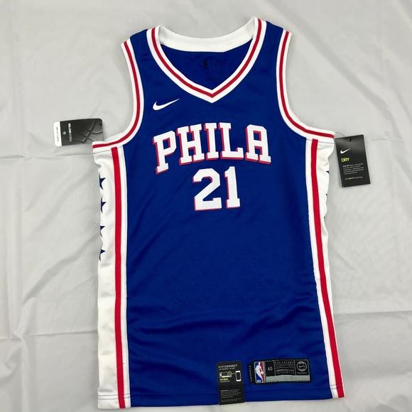 half off f70b0 5ad32 Nike NBA Philadelphia 76ers Joel Embiid Jersey NWT